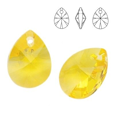 6128 Mini Pear 8mm Light Topaz 5 pieces  Dimensions: 8,0mm Colour: Light Topaz 1 package = 5 pieces