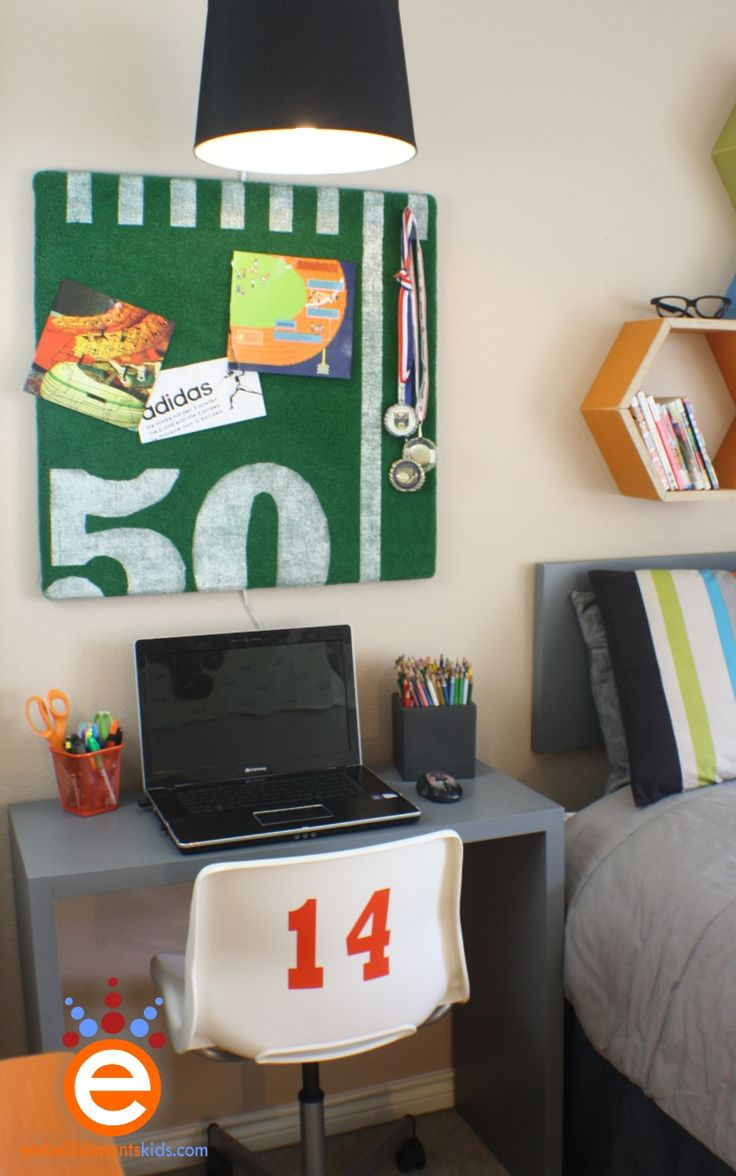 bulletin board ideas football themes   Embellishments Kids: Teen Bedroom $300.00 Makeover Challenge - Today's ...