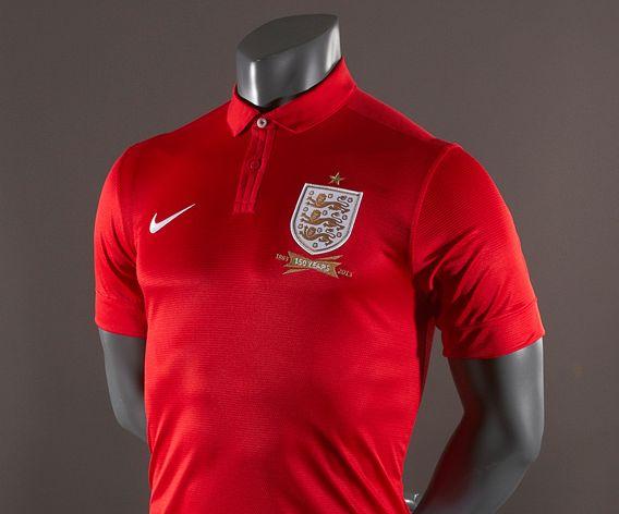 Nike England 2013 Away Replica SS Shirt - Red/White