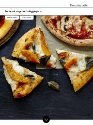 Waitrose Food November 2016: Butternut, sage and taleggio pizza