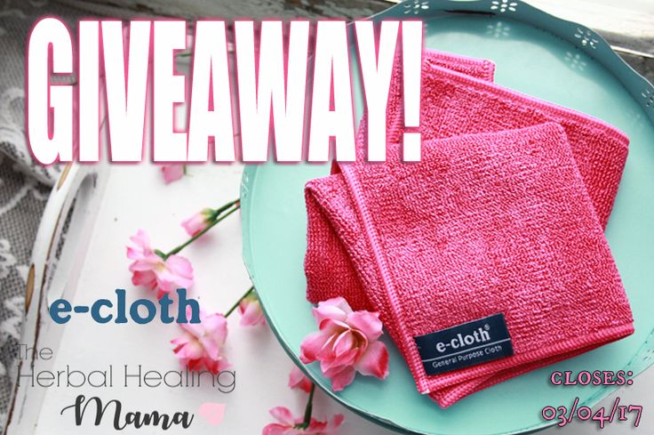 Enter to WIN with e-cloth & The Herbal Healing Mama! #greencleaning