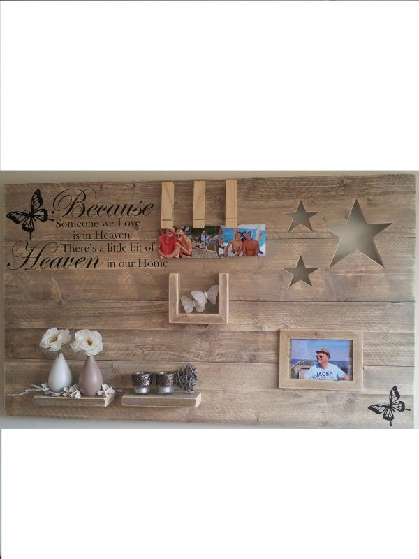 Wanddecoratiebord u0026quot;Because someone we loveu0026quot; afm: L135xH78cm voorraad ...
