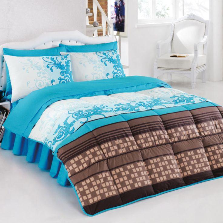 Kristal Anka uyku seti mavi tek kişilik modeli