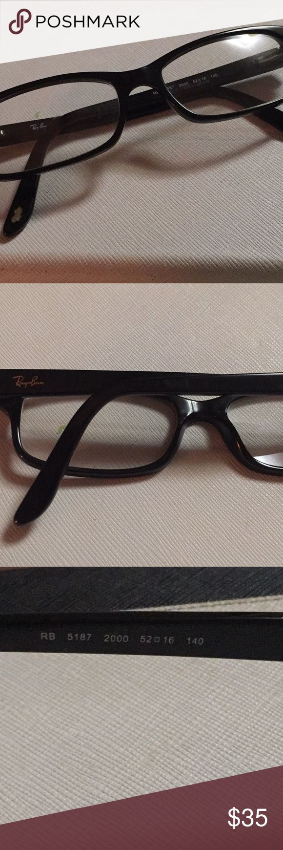 Ray-Ban eyeglasses Ray Ban 5187 eyeglasses rectangular  Size 16-52-140 Add your own prescription Ray-Ban Accessories Glasses