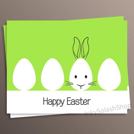 32 best inkysplashshop cards tags images on pinterest group funny easter greeting card with cute bunny head hand drawn over the egg by inkysplashshop on etsy easter rabbit cute gift card for children negle Image collections