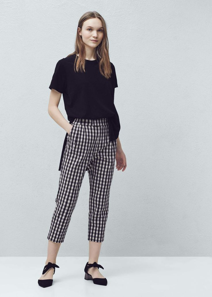 Check trousers | MANGO