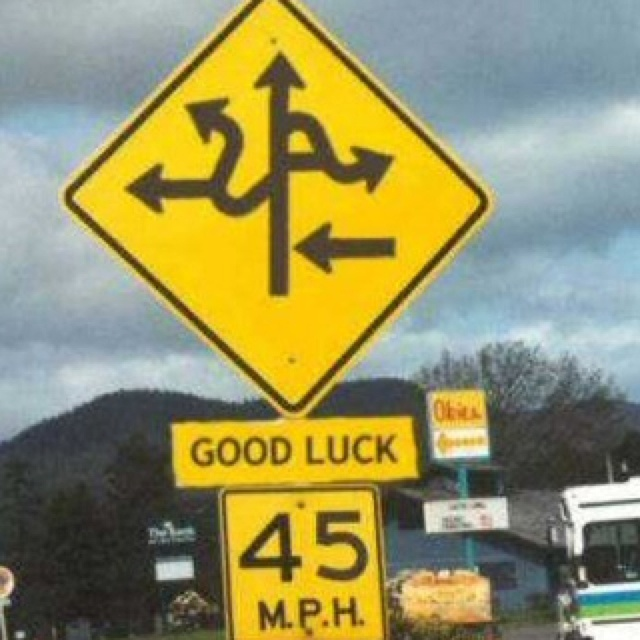 12 best crazy road signs images on pinterest funny stuff ha ha crazy road sign this is how my minds swirls onmondays publicscrutiny Images