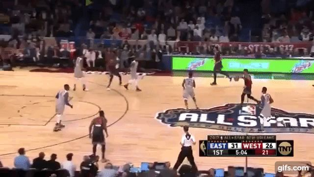 Kevin Durant Sets-Up Russell Westbrook Alley-OOP All Star 2017