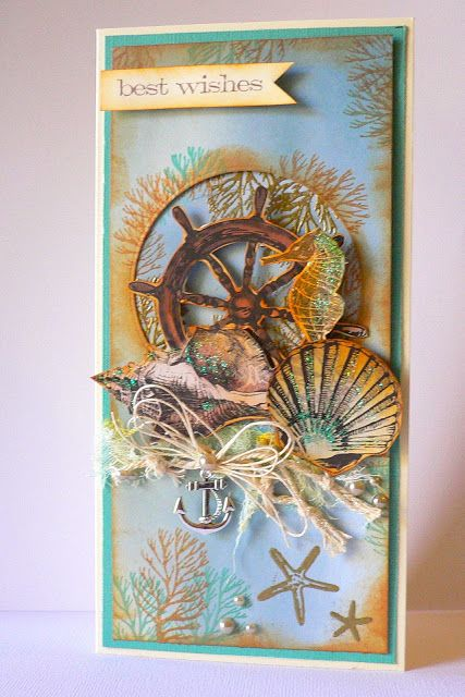 ADRIANA BOLZON ** AB INSPIRATIONS: Tall Sea Breeze Cards - Couture Creations
