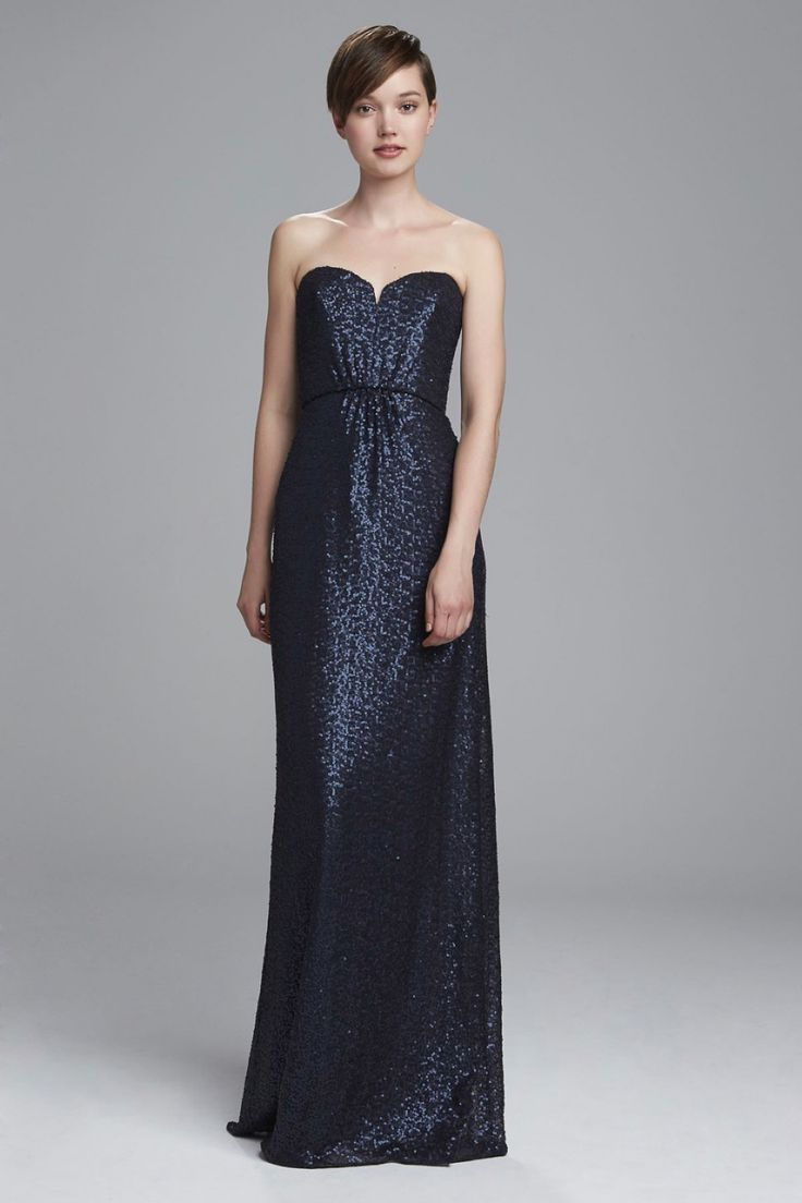57 best sequin bridesmaid dresses images on pinterest spencer strapless sequin bridesmaids dress with sweetheart neckline shown in navy ombrellifo Choice Image