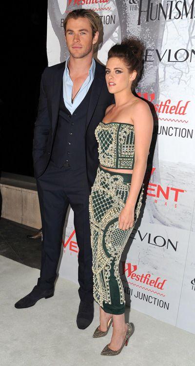 Down under! Kristen Stewart and Chris Hemsworth at Snow