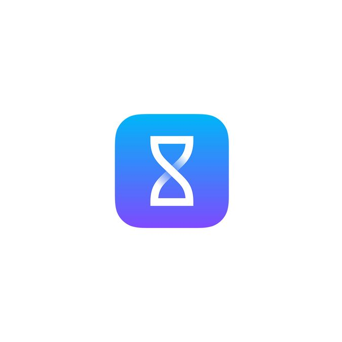 Create an iOS app icon for a Timer app by Carlos Afonso
