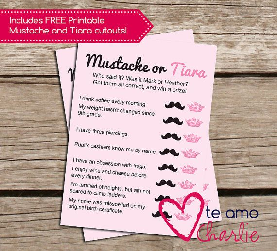 Who Said It Personalized Printable Bridal Shower Game ...