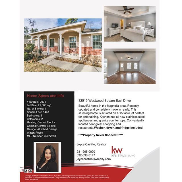 📣💥📣OPEN HOUSE📣💥📣 Come join me this weekend from 2-5 PM and have a look at this beautiful home located in the city of Magnolia. *****Property never flooded and it's move in ready***** 🏡🏡 #openhouse #invitation #magnoliacity #kwsw #buyersagent #realtorlife #realestate #realtor #igotthekeys #firsttimehomebuyers #fha #conventional #cash #valoans #localrealtors - posted by Joyce Castillo https://www.instagram.com/thetexasrealestateagent - See more VA Loan Real Estate photos from Local…