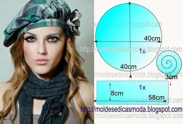Moldes Moda por Medida: BOINA FEMININA-2