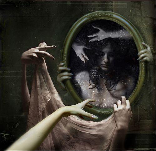 : Andreea Anghel, Mirror Mirror, Haunted Houses, Spooky Stuff, Dark Art, Mirrormirror, Haunted Image, Dark Shadows, The Dark
