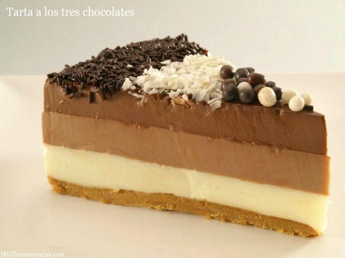 Tarta a los tres chocolates - MisThermorecetas