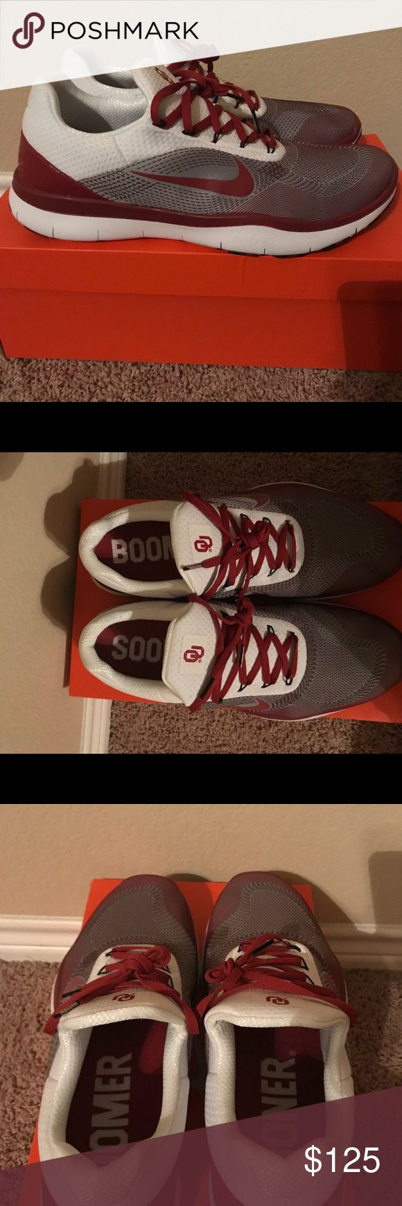 Nike Free Trainer V7 Week Zero Oklahoma Sooner Features and Benefits  Lightweight synthetic uppers with Flywire cables that provide stability as you move Tough Phylon midsoles double as outsoles to keep shoe weight to a minimum Outsoles with tristar flex