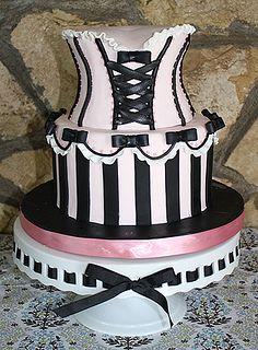 Corset cake by Coco Paloma Desserts, via Flickr