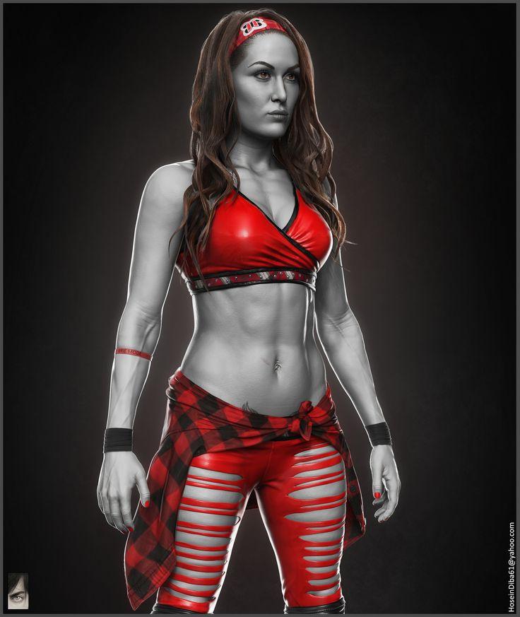 Letters In Latex%0A ArtStation  Brie Bella  WWE  Hossein Diba
