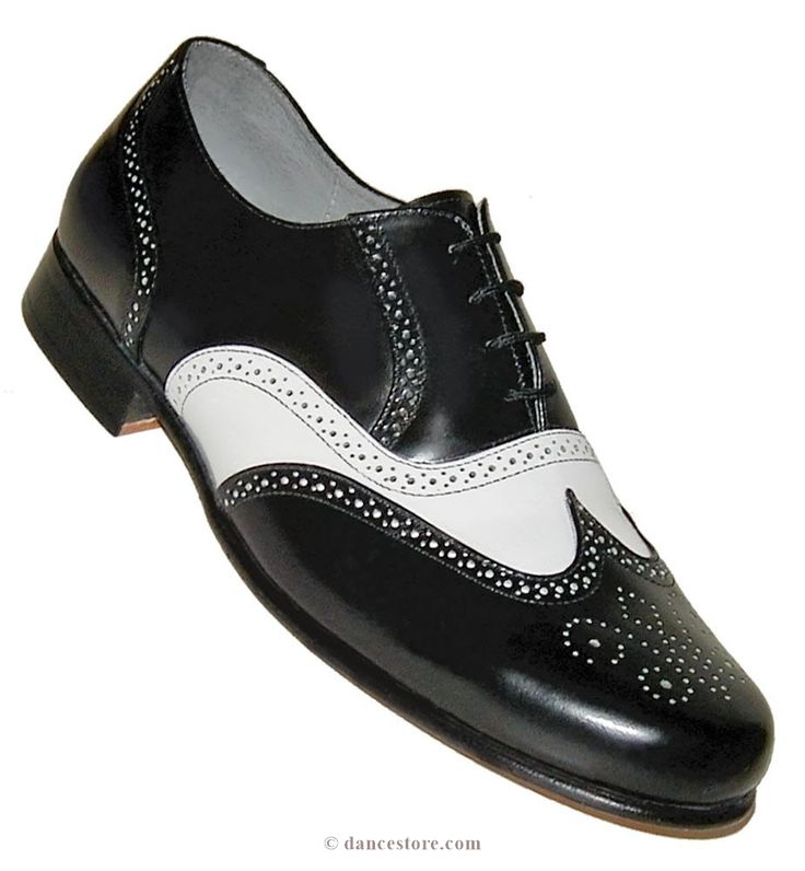 Aris Allen Men's 1930s Black and White Spectator Wingtip Dance Shoe
