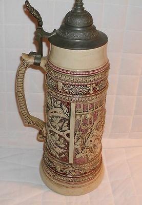 Antique 1900 S German Beer Stein Drgm 154927 Diesinger 2