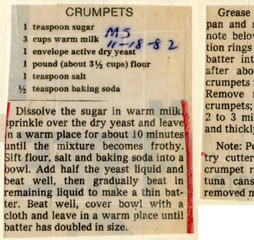 Crumpets. :: Historic Recipe