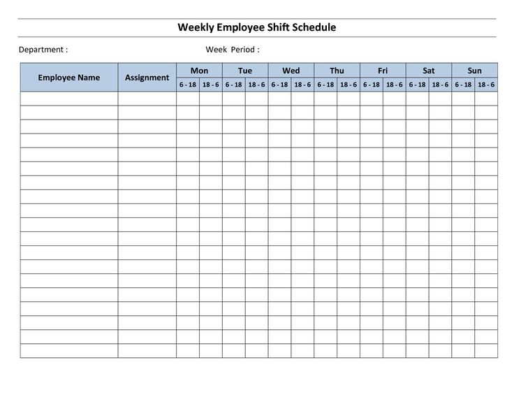 Printable Weekly Employee Schedule Template  Mr Bagel