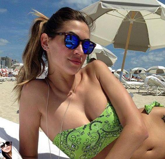 Melissa Satta in vacanza a Miami con i suoi nuovi occhiali da sole Spektre Memento acquistali su www.diecidecimi.org