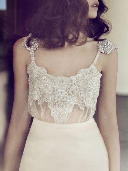 Delicate and very unique wedding dress