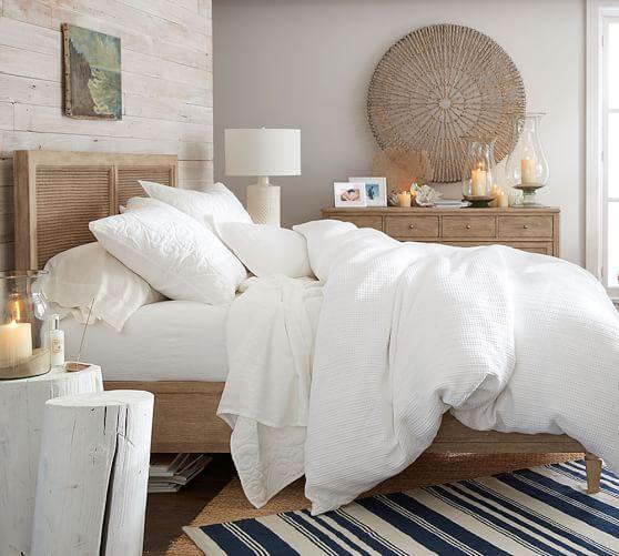 I love all white bedding Honeycomb Duvet Cover & Sham | Pottery Barn