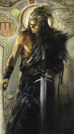 Livre : Merlin Illustrations : Aleksi Briclot et Jean Sebastien Rossbach. Textes : Jean Luc Istin.