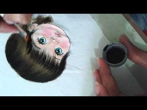 Como pintar o cabelo preto do bebê. - YouTube