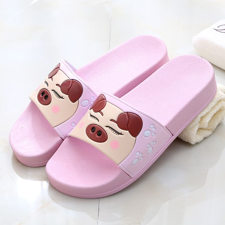 2016 summer cartoon pig slippers women cute slippers bathroom bath women shoes mujeres zapatos //Price: $14.95 & FREE Shipping //     #hashtag3