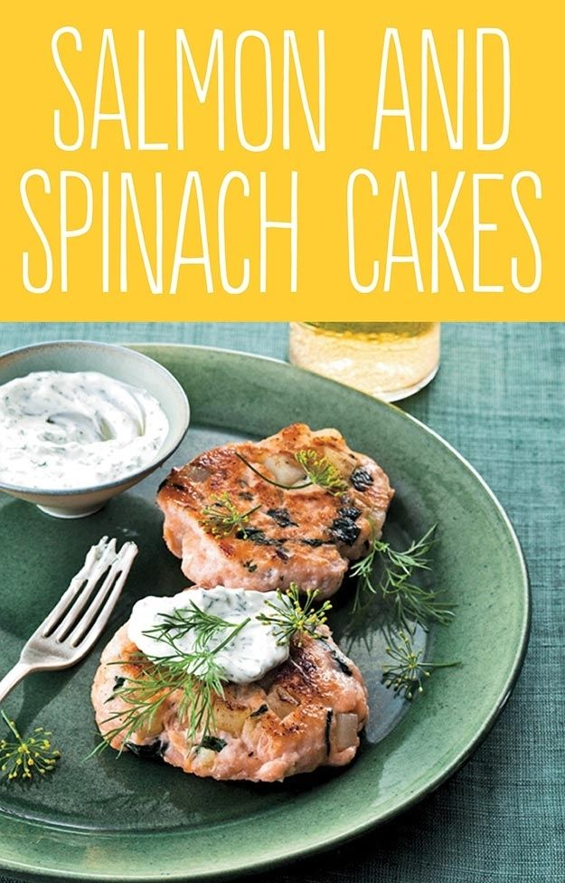 Salmon and Spinach Cakes.