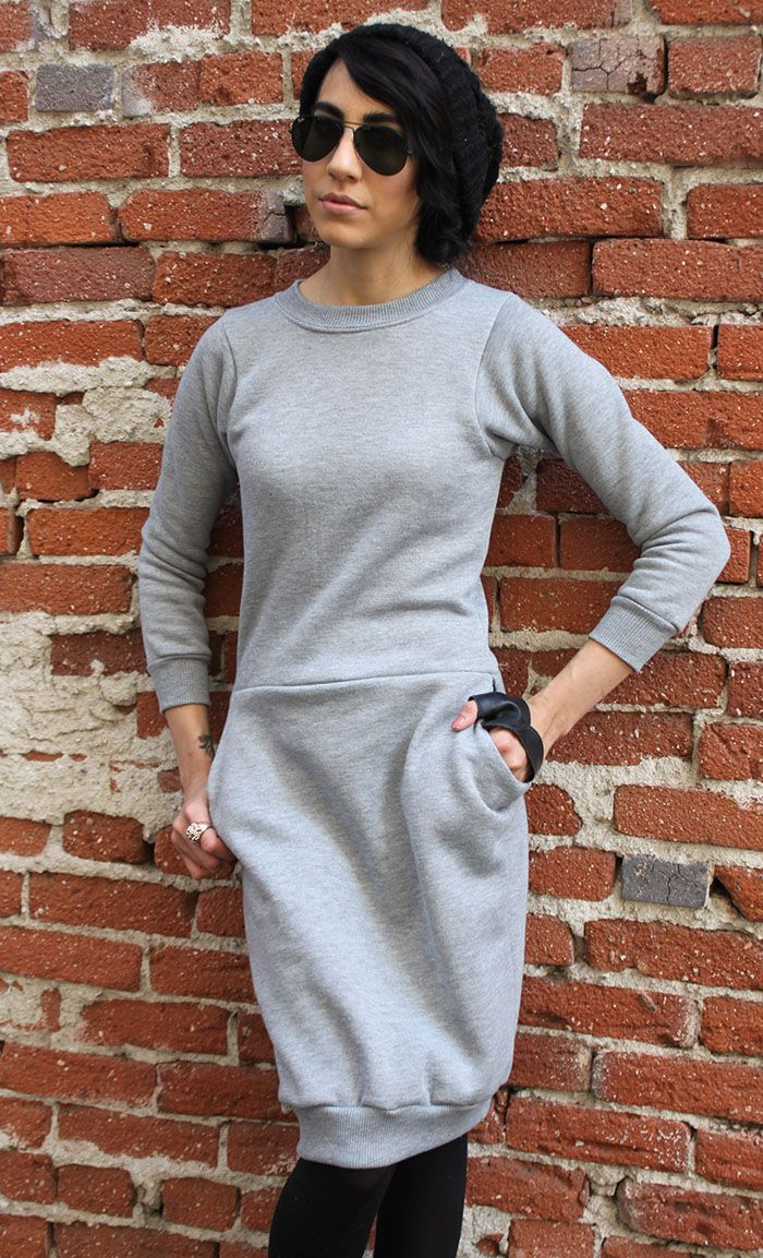Hot Mess Sweatshirt Dress - OMG how cute is this? I'm going to have to fix my sewing machine!