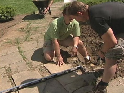 How to Level a Slate Walkway : How-To : DIY Network