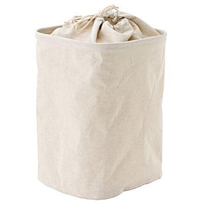 ポリエステル綿麻混 ランドリーバッグ
