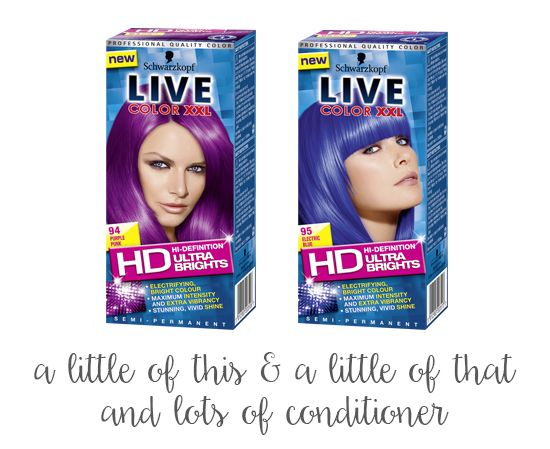 diy lilac hair toner using schwarzkopf live color xxl electric blue and purple punk mix - Coloration Blond Me Schwarzkopf