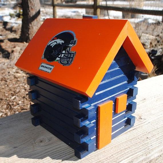 Broncos bird house