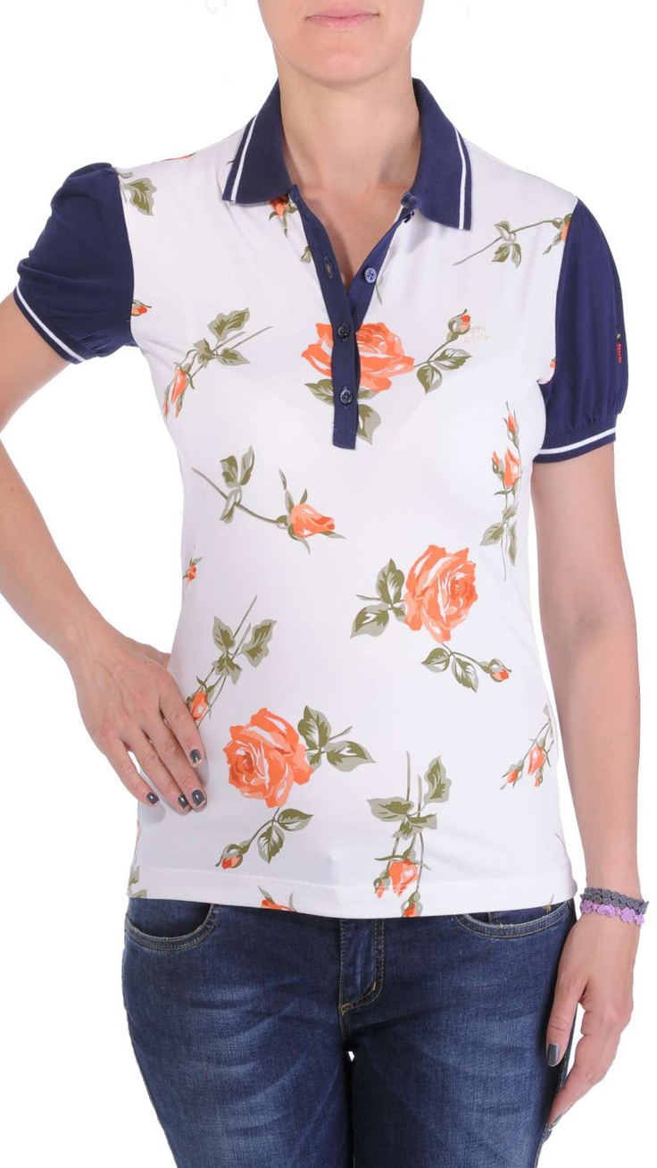 Polo shirt, four buttons placket, Cooperativa Pescatori Posillipo logo embroidered on a sleeve.