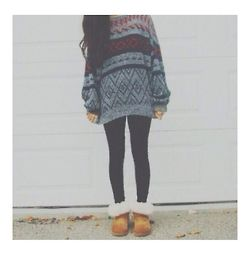 Winter hipster outfit