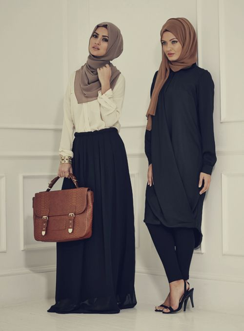 Women's styling - Scarves, long skirts, long tunics,
