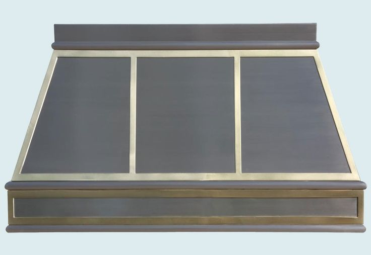 Stainless Range Hood With Brass Straps Stove Hood In
