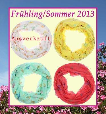 Rundschal, Loopschal, Schlauchschal Frühling/Sommer 2013 Eulen € 10,90