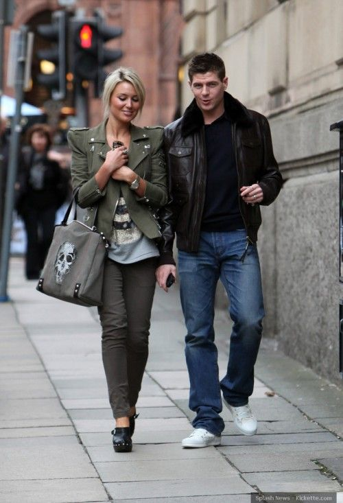 Steven Gerrard, Liverpool, with wife Alex