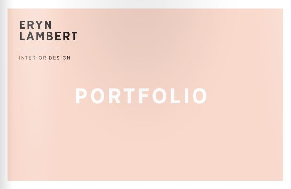 Eryn Lambert | interior design portfolio