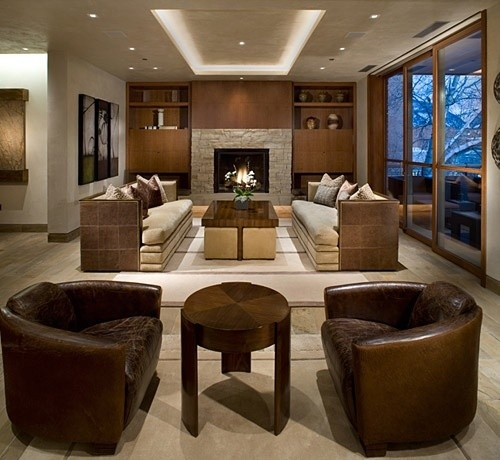 Contemporary Living Room By 186 Lighting Design Group