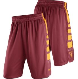Take the court with your team pride on display in the Nike® Men's USC Trojans Basketball Practice ELITE Stripe Shorts.