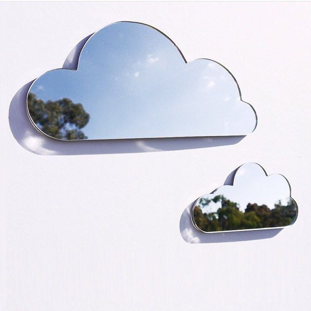 CLOUDS [Mirror cloud set by @arloandco. Available online at arloandco.com.au]  #arloandco #kidsmirror #cloudmirror #nurserydecor #melbournemade